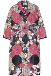 Erdem Whitley Patchwork Coat Red