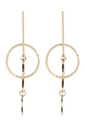 Cara Accessories Bar And Layered Circle Charm Earrings Metallic