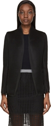 Denis Gagnon Black Mesh Open Blazer