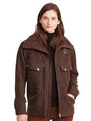 Lauren Ralph Lauren Hollina Herringbone Jacket Brown