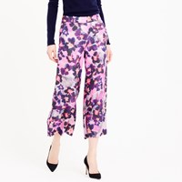 J.Crew Collection Wide Leg Silk Pant In Watercolor Floral