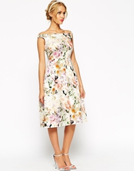 Asos Wedding Midi Floral Prom Dress Print