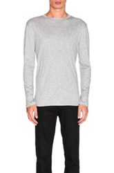Helmut Lang Jersey Long Sleeve Tee In Gray