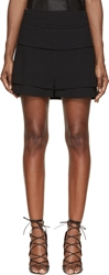Givenchy Black Cr Pe Double Layer Shorts