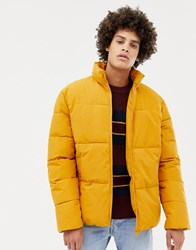 Kiomi Padded Jacket In Yellow With Funnel Neck