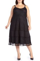 Addition Elle Love And Legend Plus Size Women's Lace Chiffon Slipdress