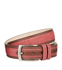 Harrods Of London Linen Raffia Belt Unisex Red