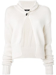 Bassike Cropped Cardigan White