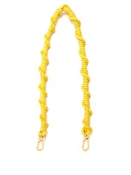 Loewe Braided Leather Bag Strap Yellow