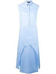 Ter Et Bantine Long Length Dress Women Cotton 46 Blue