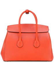 Bally Double Straps Tote Red