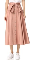 Rebecca Taylor Belted Skirt Nude Glow