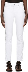 Etoile Isabel Marant White Two Tone Haven Jeans