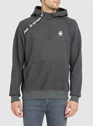 G Star Grey Core Zip Shoulder Hooded Sweatshirt