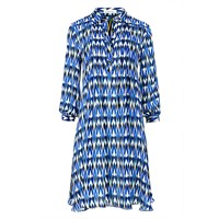 Libelula Isla Shirt Dress Stalagtite Print Black White Blue