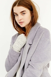 Urban Outfitters Ribbed Sequin Fingerless Glove Ivory