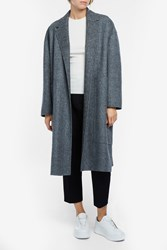 Rochas Herringbone Pocket Coat Grey