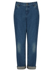 Collection Weekend By John Lewis Boyfriend Jeans Mid Wash Indigo