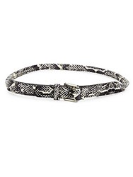 Mcq By Alexander Mcqueen Snake Embossed Leather Belt Black