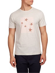 Hymn Galaxy Starfish Graphic T Shirt Off White