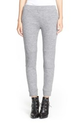 Belstaff Rib Knit Wool Jersey Pants Gray