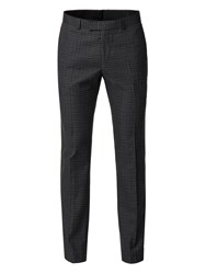 Limehaus Men's Ethan Charcoal Gingham Trouser Charcoal