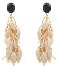 Marni Multi Petal Drop Earrings White