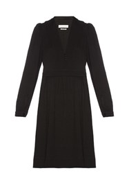 Etoile Isabel Marant Neil V Neck Crepe Dress Black