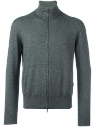 Loro Piana Zip Up Cardigan Grey