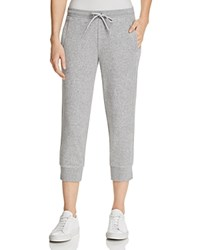 Marc New York Performance Terry Cloth Cropped Jogger Pants Light Gray Heather
