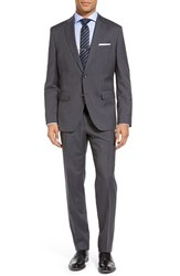 Boss Men's Johnstons Lenon Trim Fit Plaid Wool Suit