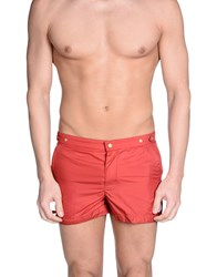 Robinson Les Bains Swim Trunks Red