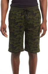 2Xist Men's 2 X Ist Terry Shorts Olive Camo