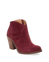 Lucky Brand Eller Leather Ankle Length Booties Red