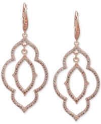 Anne Klein Crystal Orbital Double Drop Earrings Silver
