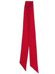Saint Laurent Star Print Scarf Red