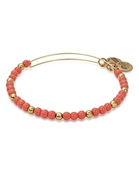 Alex And Ani Color Class Flora Expandable Wire Bangle Coral Gold