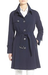 Women's Trina Turk 'Lilian' Pleated Single Breasted Trench Coat