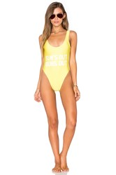 Private Party Sun's Out Buns Out One Piece Swimsuit Yellow