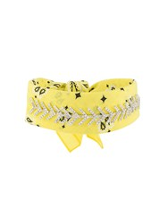 Fallon Jewel Embellished Bandana Choker Yellow And Orange