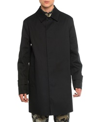 Givenchy Mac Leather Trench Coat Black