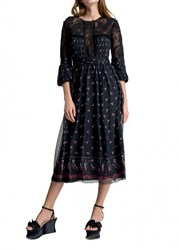 Leon Max Lace And Chiffon Dress