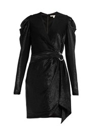 Jonathan Simkhai Draped Wrap Mini Dress Black