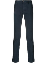 Incotex Slim Fit Tapered Trousers Blue