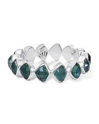 Stephen Dweck Faceted Green Quartz And Mother Of Pearl Doublet Bracelet