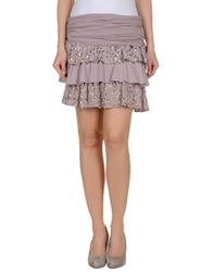 Liu Jeans Knee Length Skirts Dove Grey