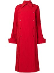 Ports 1961 Oversized Trench Coat Red
