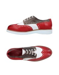 Wexford Lace Up Shoes Red
