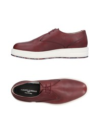 Alberto Guardiani Lace Up Shoes Maroon