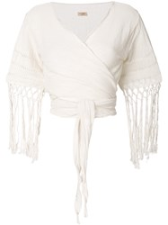 Caravana Antigone Top Cotton White